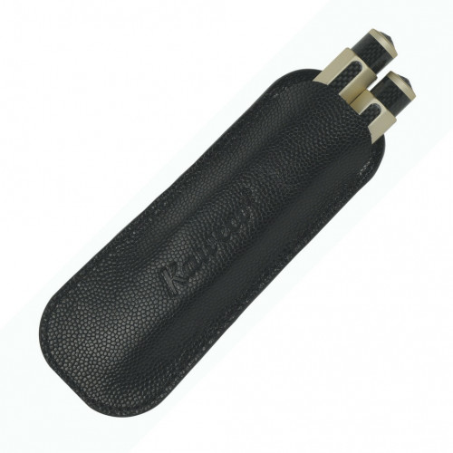 KAWECO SPORT ECO LEATHER POUCH - BLACK