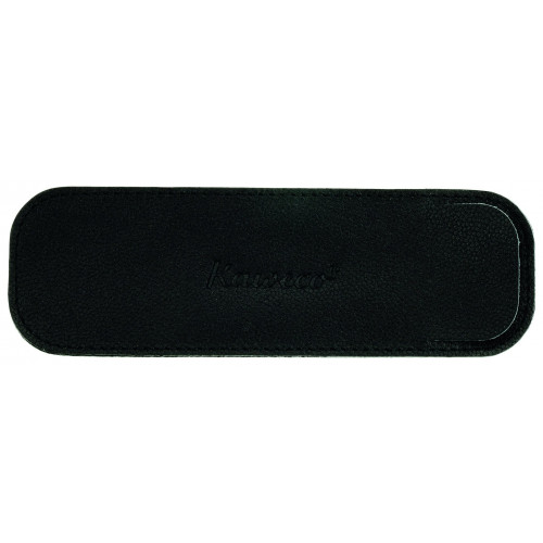 KAWECO ECO LEATHER POUCH - REGULAR - BLACK - HOLDS 2 PENS