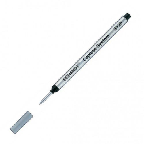 SCHMIDT CAPLESS ROLLERBALL REFILLS - 8126 - BLACK - FINE - PACK OF 80