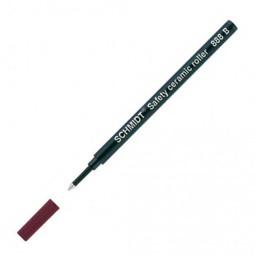 SCHMIDT CERAMIC ROLLERBALL REFILLS - 888 - BLACK - BROAD - PACK OF 10