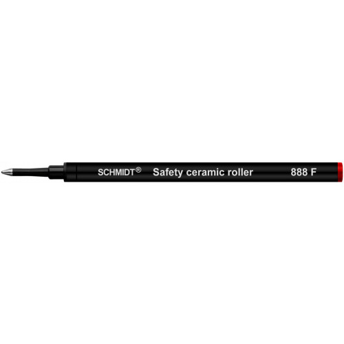 SCHMIDT SAFETY CERAMIC ROLLERBALL REFILLS - SRC 888 - RED - FINE