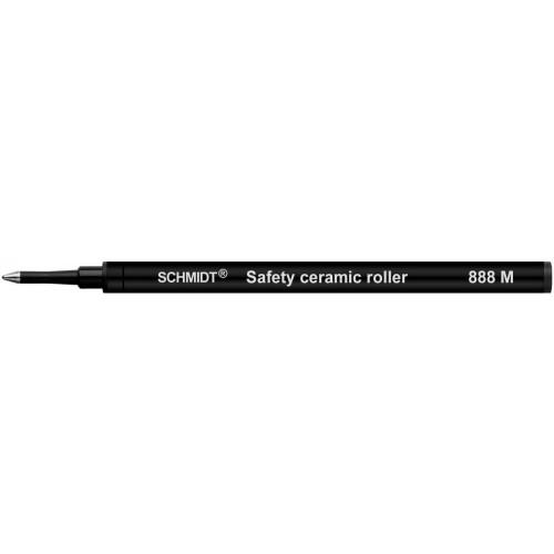 SCHMIDT SAFETY CERAMIC ROLLERBALL REFILLS - SRC 888 - BLACK - MEDIUM