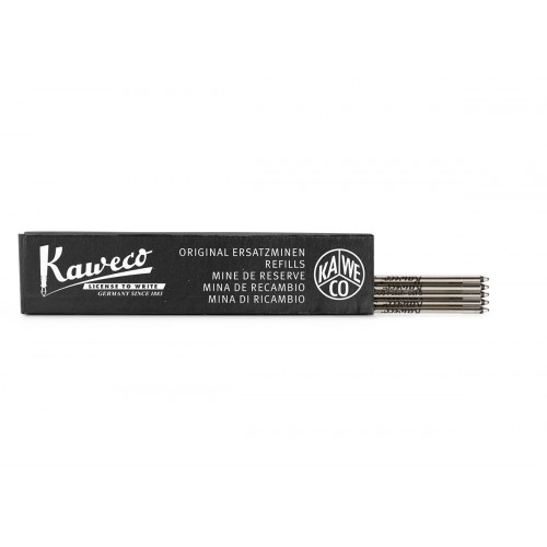 KAWECO D1 BALLPOINT REFILLS - BLACK - F