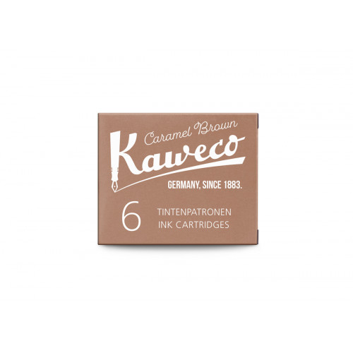 KAWECO INK CARTRIDGES - PACK OF 6 - CARAMEL BROWN