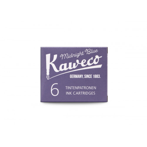 KAWECO INK CARTRIDGES - PACK OF 6 - MIDNIGHT BLUE
