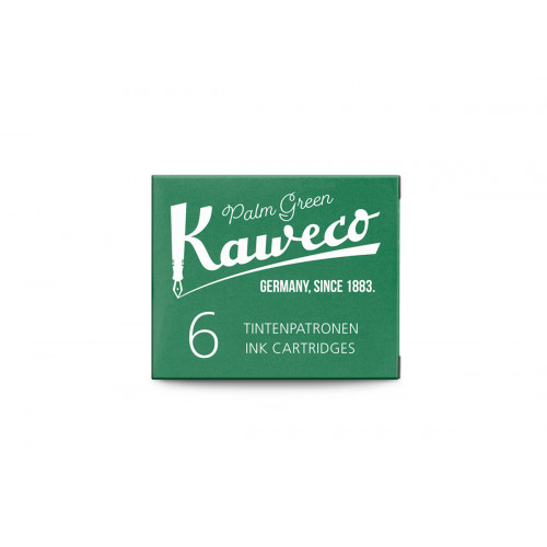 KAWECO INK CARTRIDGES - PACK OF 6 - PALM GREEN