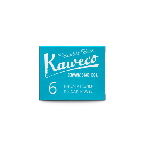 KAWECO INK CARTRIDGES - PACK OF 6 - PARADISE BLUE