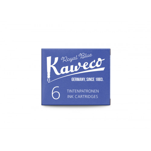 KAWECO INK CARTRIDGES - PACK OF 6 - ROYAL BLUE