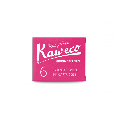 KAWECO INK CARTRIDGES - PACK OF 6 - RUBY RED