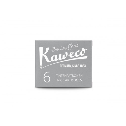 KAWECO INK CARTRIDGES - PACK OF 6 - SMOKEY GREY