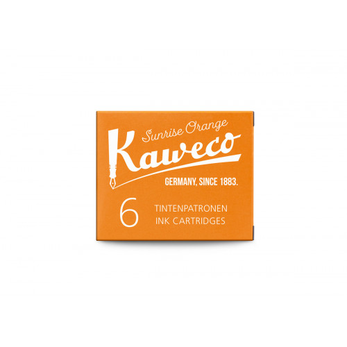 KAWECO INK CARTRIDGES - PACK OF 6 - SUNRISE ORANGE