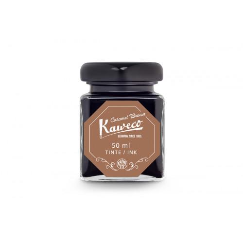 KAWECO BOTTLED INK - 50ml - CARAMEL BROWN