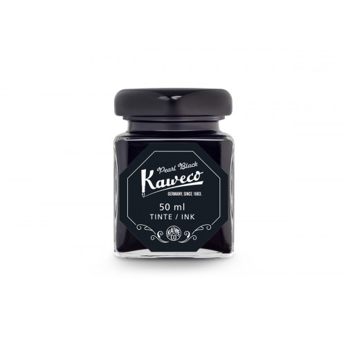 KAWECO BOTTLED INK - 50ml - PEARL BLACK