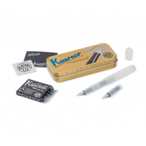 KAWECO FROSTED SPORT CALLIGRAPHY SET - NATURAL COCONUT - MINI