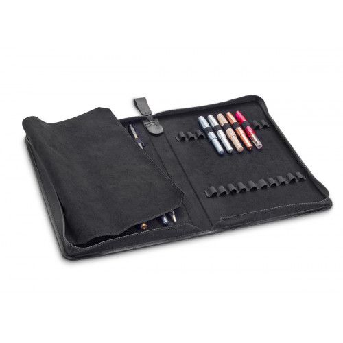 KAWECO A4 LEATHER 40 PEN CASE WITH LOGO