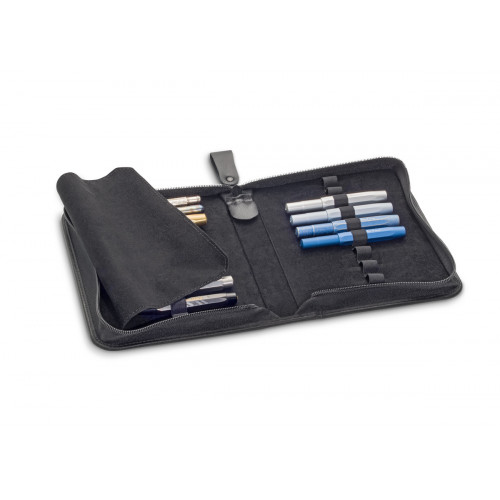 KAWECO A5 LEATHER 20 PEN CASE WITH LOGO
