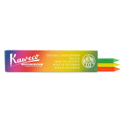 KAWECO HIGHLIGHTER LEADS 5.6MM - GREEN, ORANGE & YELLOW