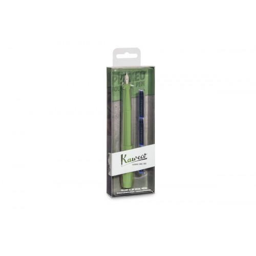 KAWECO PERKEO FOUNTAIN PEN PACK - JUNGLE GREEN