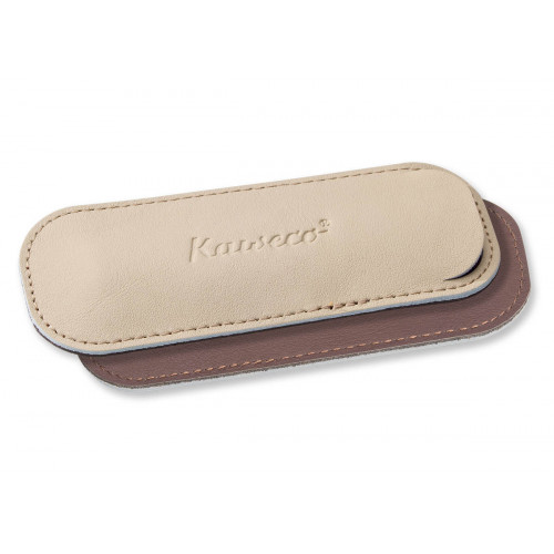 KAWECO SPORT ECO LEATHER POUCH - CREAMY ESPRESSO